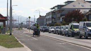 Cyclist in Dublin