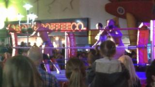 Wrestling match at Butlin's in Skegness