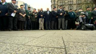 The rally was organised by the Justice for Northern Ireland Veterans Group