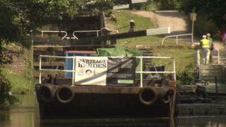 Heritage Heroes boat at Ryeford