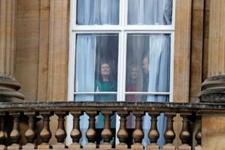 White House Press Secretary Sarah Sanders and White House adviser Kellyanne Conway at Buckingham Palace