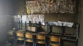 Creche incendiada em Janaúba