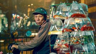 Скутерист с рыбками
