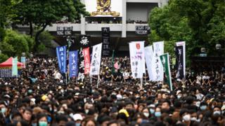 香港中文大学9月2日的学生集会