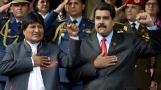 Morales e Maduro