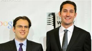 Mike Krieger, à esquerda, e Kevin Systrom, fundadores do Instagram