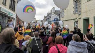 Crowds at Hebridean Pride