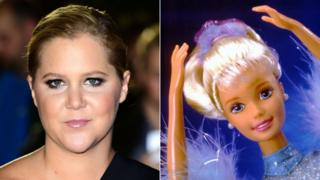Amy Schumer and a Barbie doll