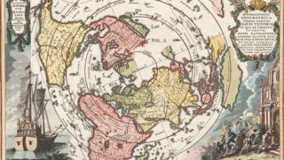 Mapa de la circunnavegación a la Tierra.