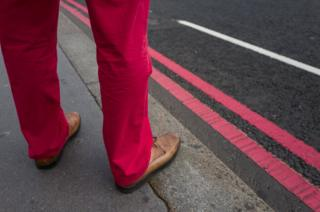 red trousers, red lines