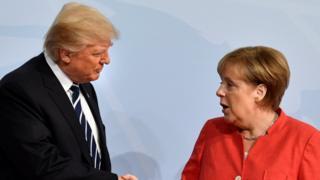 Trump dan Merkel
