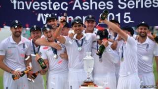 England won the Ashes series this summer