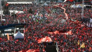 "Demonstrators wave Turkish flags and picture of Ataturk, founder of modern Turkey, in Istanbul""s Taksim Square on July 24, 2016 during the first cross-party rally to condemn the coup attempt against President Recep Tayyip Erdogan."