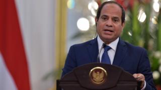President Abdul Fattah al-Sisi. 4 Sept 2015
