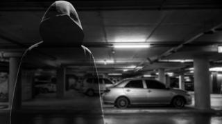 Stylised image of a car thief