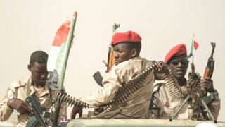 सूडान में आरएसएफ के सैनिक