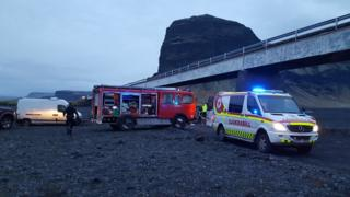 Photo of the scene in Iceland