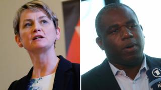 Yvette Cooper and David Lammy composite