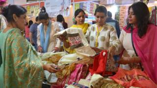 Indian shoppers