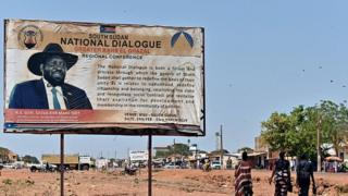 South Sudan poster calls for national dialogue