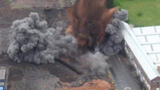 Bomb explodes
