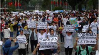 Đã từng xảy ra các vụ biểu tình chống Formosa ở Việt Nam (ảnh chụp ngày 1/5/2016 ở Hà Nội)