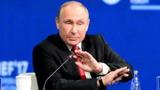 Владимир Путин на Петербургском экономическом форуме