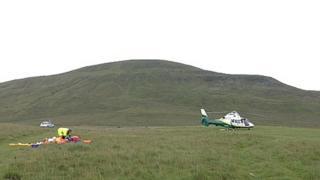 Paraglider crash at Howgills