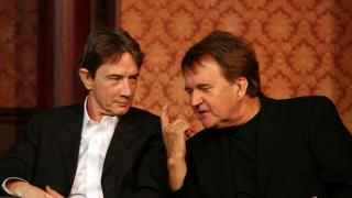 Dave Thomas (right) with his friend and SCTV alum Martin Short.
