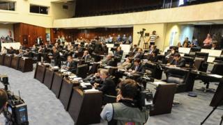 Sessão na Assembleia Legislativa do Paraná