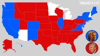 Map showing who voted for who