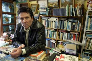 Former Hello Sailor singer Graham Brazier photographed at his family's book store on Dominion Road in Auckland, New Zealand, 10 October 2004