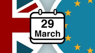 Index image shows part of Union Jack and EU flag with date 29 March in the centre