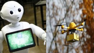 ड्रोन-रोबोट