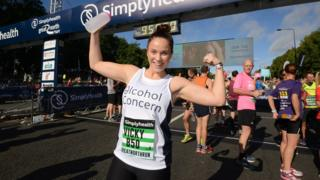 Vicky Pattison poses ahead of the start