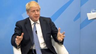 Boris Johnson speaking during a digital hustings on Wednesday