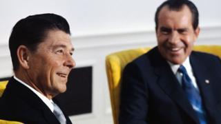 Reagan y Nixon