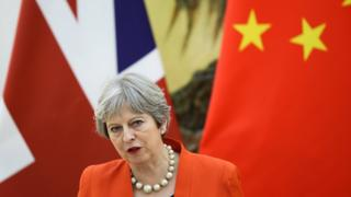 Theresa May in Beijing