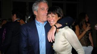 Jeffrey Epstein and Ghislaine Maxwell a Wall Street benefit event in New York in 2005