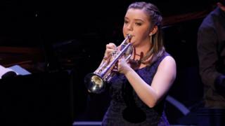 Alexandra Ridout plays at the BBC Young Jazz Musician competition