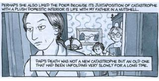 A panel from Alison Bechdel's graphic novel Fun Home