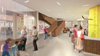 Tapestry centre artist's impression