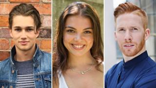 L to R: AJ Pritchard, Chloe Hewitt and Neil Jones