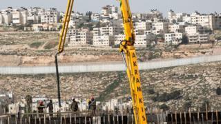 Doğu Kudüs'te yerleşim inşaatı