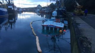 Sunken trawler