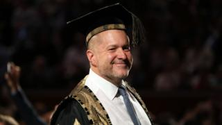 Jony Ive attending the Royal College Of Art convocation ceremony at the RCA and Albert Hall