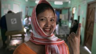 असम की एक मतदाता