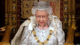 The Queen delivers her speech in Parliament
