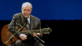 João Gilberto em 2008, ano em que fez suas últimas apresentações