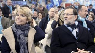 Esperanza Aguirre and Mariano Rajoy